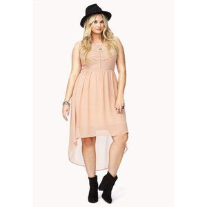 Forever 21 + Pink Summer Nights High-Low Dress 3x